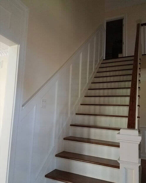Wood Stair Installation In Long Island